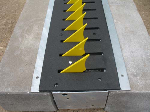 Tire Spikes at High Security Exit, USA