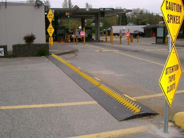 Above Ground Tire Shredder at Canada Customs
